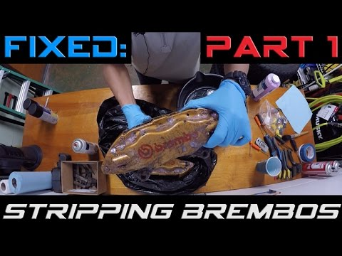 Stripping Powdercoat on Brembo's // Part 1