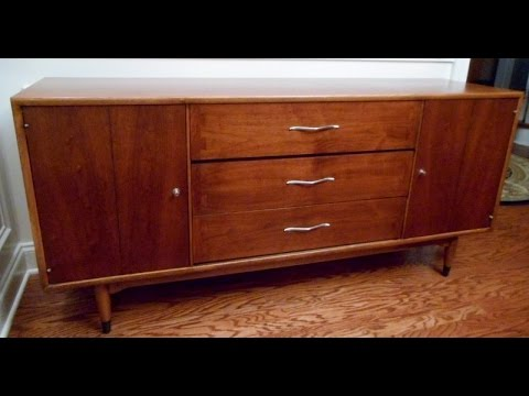 Restoring the top of a Lane Acclaim Buffet from 1964
