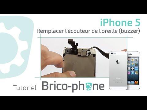 Tuto : iPhone 5 changer l'écouteur de l'oreille (haut parleur buzzer) HD