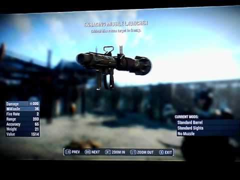 Fallout 4 Legendary Missile Launchers Xbox 1 NO mods