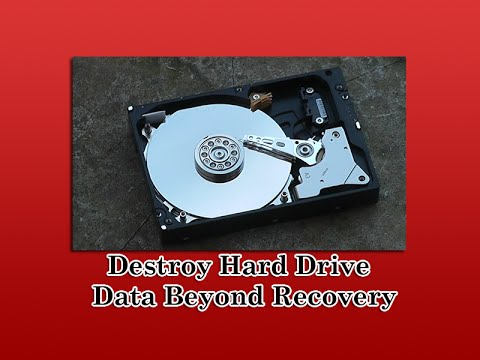 Destroy Hard Drive Data Beyond Recovery