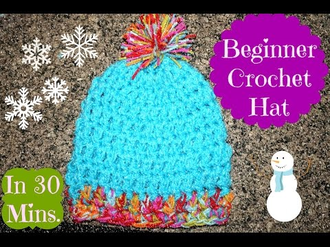 How To: Easy 30 Minute Crochet Hat for Beginners | ❤LifeWithLisa343💋 | Daily Vlogs