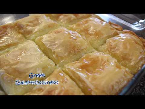 How to make Greek Galaktoboureko (Sweet Custard pie)