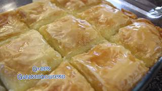 How to make Greek Galaktoboureko (Sweet Custard pie)
