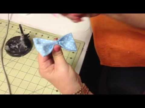 No Sew Baby Boy Bow Tie Tutorial #3