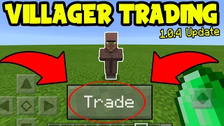 Download HOW to TRADE with VILLAGERS on Minecraft Pocket Edition!!! (MCPE 1.0.4 Update) Video