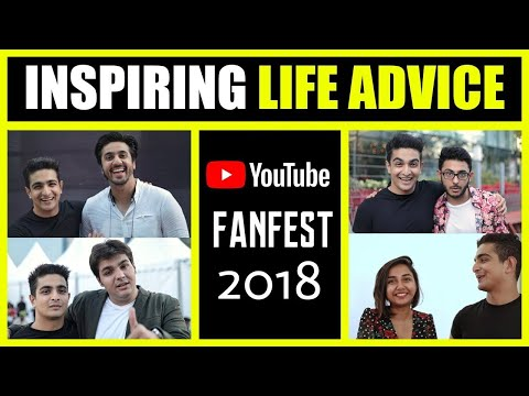 INSPIRING Life Advice from your favourite YouTubers at 2018 Fanfest India | BeerBiceps #YTFF 2018