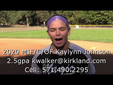 2020 MIF/C/OF Kaylynn Johnson 2.5gpa Virginia prospect, power hitter