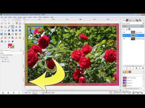 GIMP 2.8 Create a simple frame around a photograph