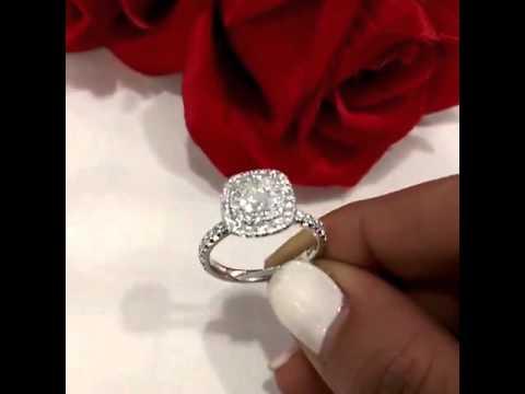 Hello double halo sparkle diamond ring