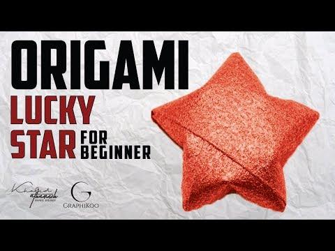 origami lucky star    عمل نجمة الحظ
