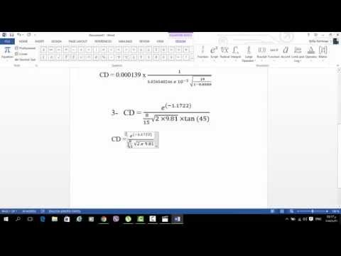 How to Write Mathematical Equations in Microsoft Word 2013 - نوسینی هاوکێشە بیرکاریەکان