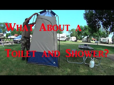 Van Dweller Shower and Toilet On the Road
