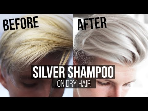 How to use Silver Shampoo on Dry Hair Thomas Davenport Inspired   Men's Hair 2017 Summer  