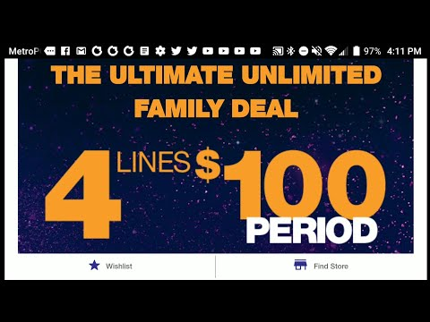MetroPCS 4 Lines Of Unlimited Data For $100 Plan Starts Today Oct 24th