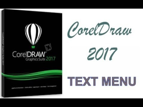COREL DRAW 2017 USING TEXT MENU HINDI URDU PART 49b