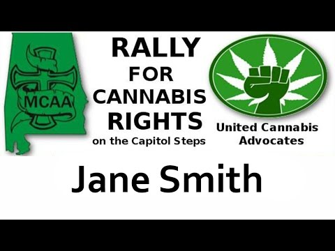 Jane Smith speaks at the rally for Cannabis Rights September 8, 2016