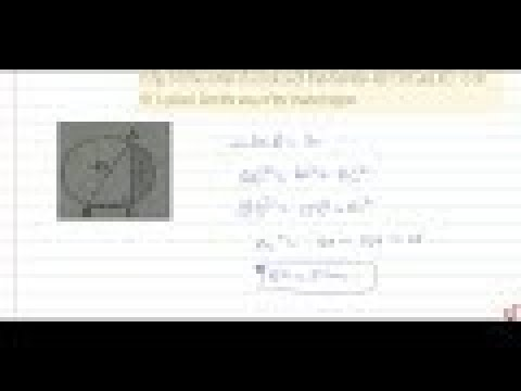 In fig. O is the center of a circle such that diameter AB=13cm and AC= 12 cm. BC is joined. Fin...