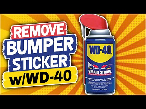 Remove a Bumper Sticker with WD-40