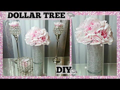 DOLLAR TREE DIY | Peony GLAM Vase & FLOWER Arrangement CENTERPIECE | Elegant Spring Floral Craft