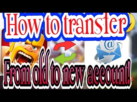 How to transfer clash of clans to another email ( For All Supercell Games)