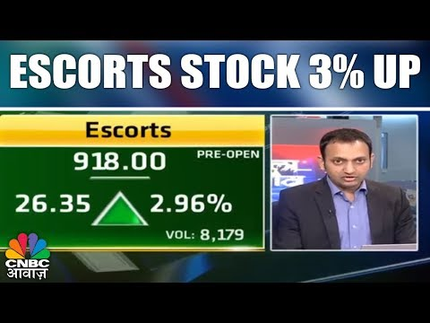 Auto Sector Shares Outperform | Escorts Stock 3% Up | CNBC Awaaz