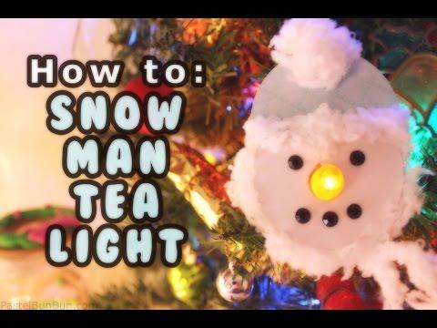 DAY #11 ❄ DIY Snowman Tea Light Tutorial ❄ (12 Days of Christmas)