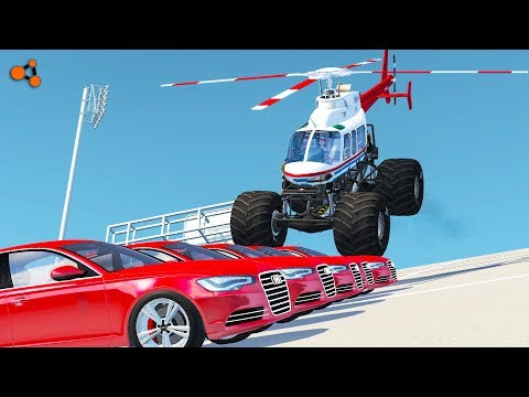Beamng drive - Monster Truck Crashes, crushing cars, jumps, fails #3