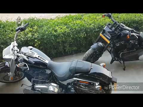 Harley Davidson FAT Boy test ride in Kolkata. Meet  with famous actor