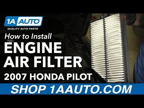 How to Install Replace Engine Air Filter 2007 Honda Pilot