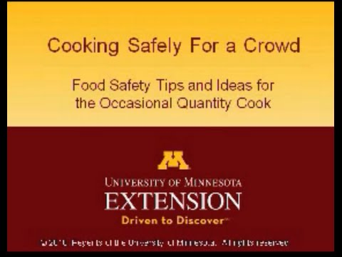 Cooking Safely for a Crowd