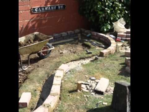 How to build a raised brick built pond