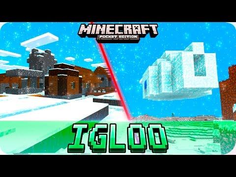 Minecraft PE Seeds - FLOATING IGLOO and Snow Villages - MCPE 1.0.1 / 1.0 Seed
