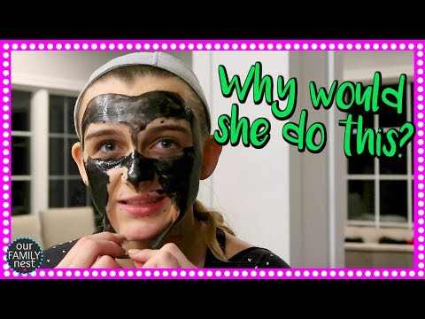 PEELING OFF HER FACE! WHAT IS DAD'S JOB?