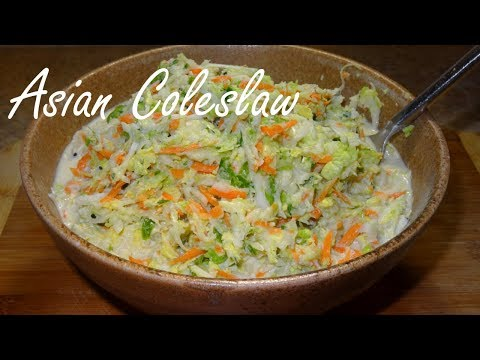 Asian Coleslaw with Napa Cabbage