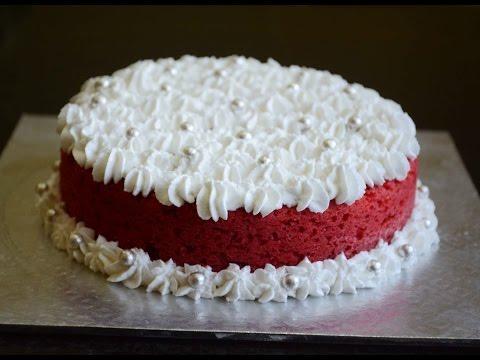How To Bake Eggless Red Velvet Cake Using Pressure Cooker - No Oven Recipe