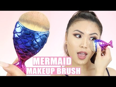 CUTEST MERMAID MAKEUP BRUSH IN THE WORLD! | Review