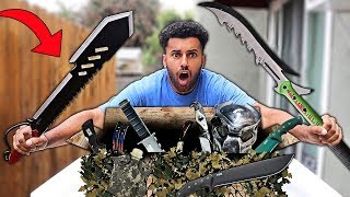 Someone Sent Me A GIANT BOX of SURVIVAL GEAR!! *DOOMSDAY PREPPERS*