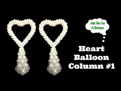 Heart Balloon Column #1 - DIY Decoration