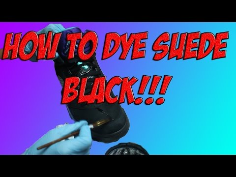 HOW TO DYE BLACK SUEDE NO PURPLE!! (ANGELUS)