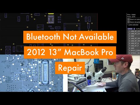 Macbook Pro Bluetooth Not Available Repair on a 2012 13