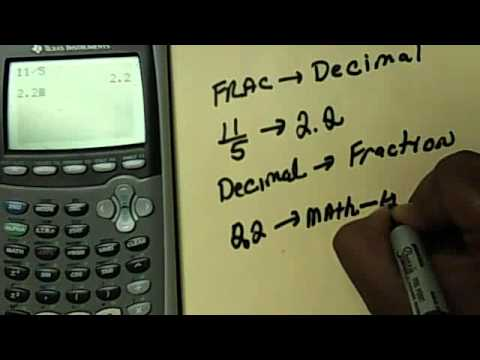 How To Change a Fraction to Decimal In The TI- Calculator