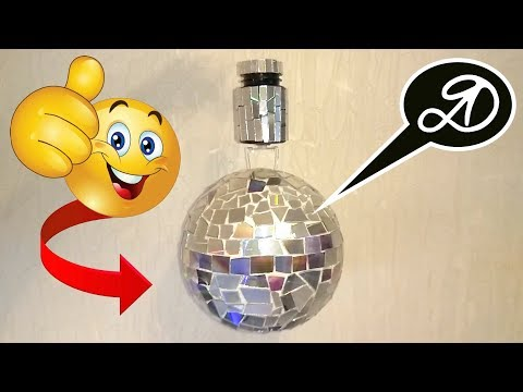 Super rotating mirror ball DIY. How to make disco ball