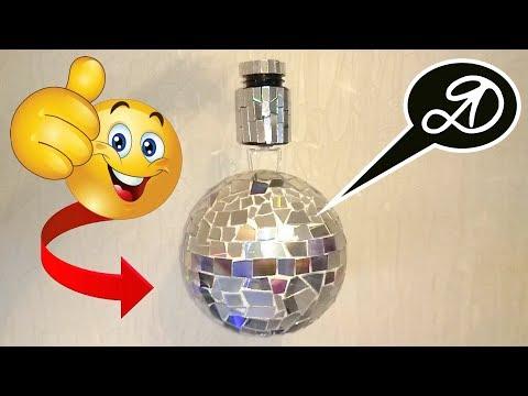 Super rotating mirror ball DIY. How to make disco ball
