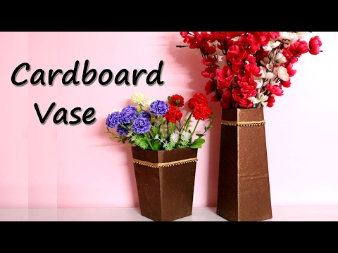 How to make a VASE from waste cardboard