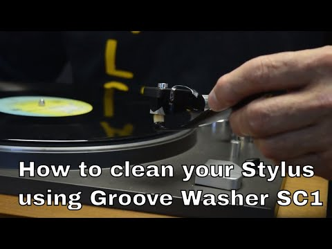 How to clean your turn table stylus using Groove Washer's SC1