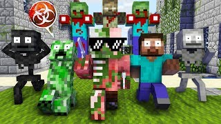 Download Monster School : GIANT ZOMBIE APOCALYPSE CHALLENGE - Minecraft Animation Video