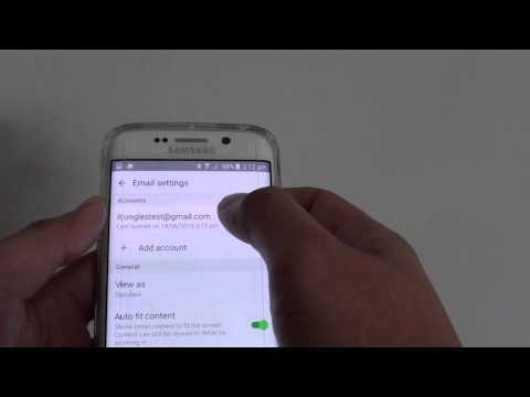 Samsung Galaxy S6 Edge: How to Remove Old Email Accounts