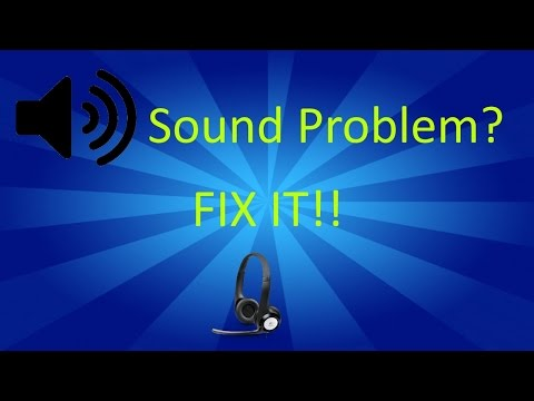 How To - Fix the Sound on the Logitech USB Headset!