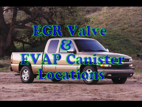 air injection, EGR valve, & EVAP caniter location on a Silverado